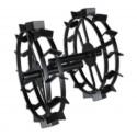 Металлические колеса для окучивания КО - 540х90 с длинной втулкой